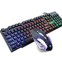 Комплект игровая клавиатура с подсветкой LED и мышь PETRA MK1, фото 1