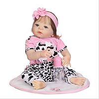 Силиконовая Коллекционная Кукла Реборн Reborn Девочка ( Виниловая Кукла ). Арт.342, фото 1