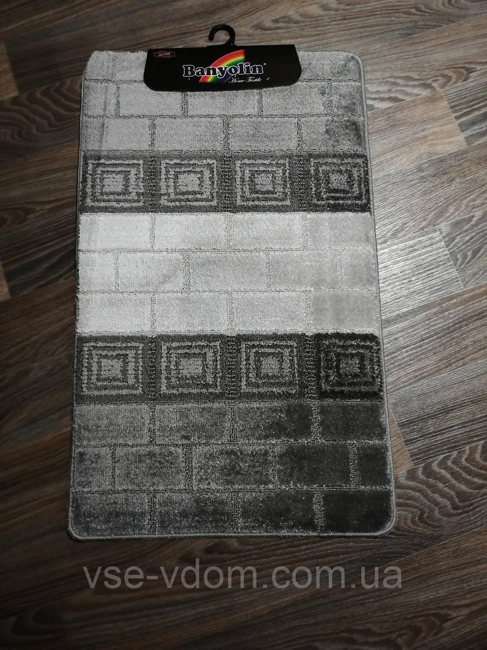 Набор ковриков в ванную и туалет 100*60 см Banyolin серый
