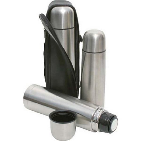 Термос металлический с чехлом  UNIQUE UN-1001 0.35л.