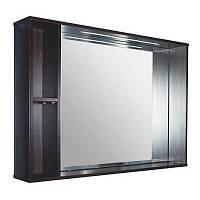 Зеркальный шкаф 984х705х156 со светодиодной подсветкой Буль-Буль ШЗ-980 венге