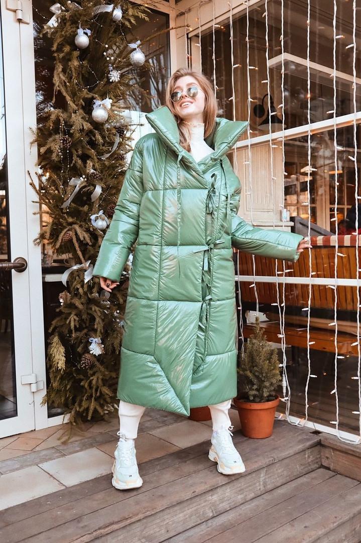 Стильное объемное пальто-одеяло в стиле oversize