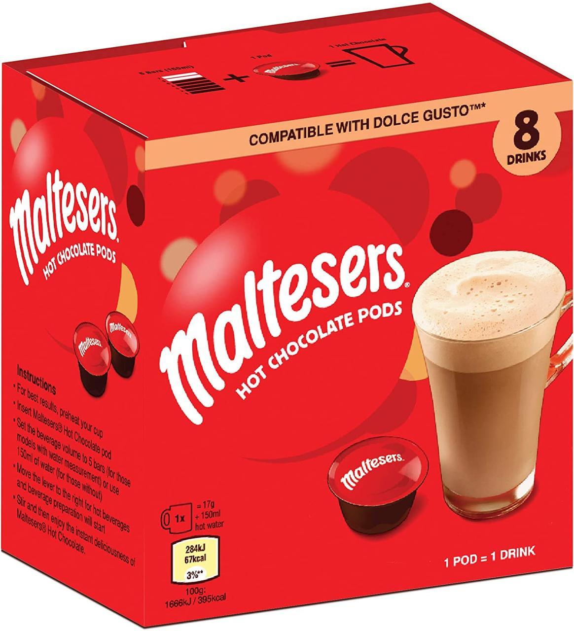 Dolce Gusto Maltesers - Mars  - ШОКОЛАД в капсулах Дольче Густо 8 порций