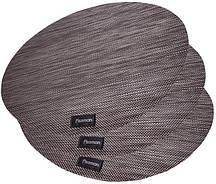 Набор 4 сервировочных коврика Fissman Cyprian-672 Ø36см, пвх