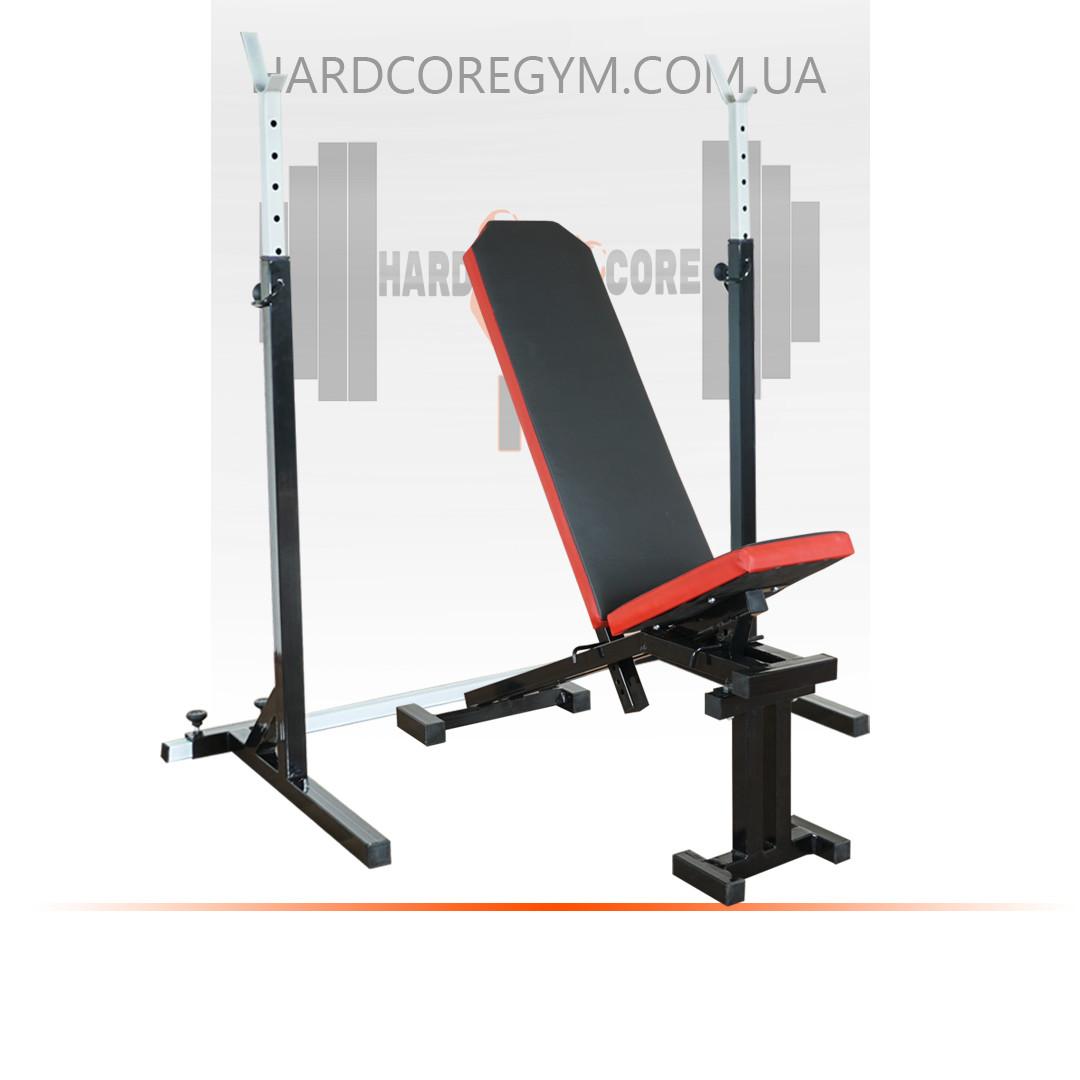 Скамья с отрицательным углом (до 300 кг) + Стойки (до 200 кг)