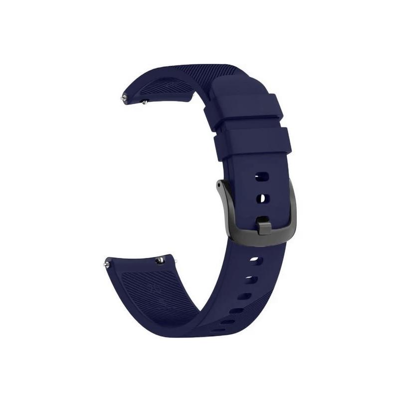Ремешок для часов Silicone bracelet Universal, 20 мм. Type B Navy blue