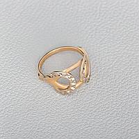 Золотое кольцо с алмазной гранью КП10396А