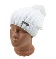 Женская белая шапка мода 2016