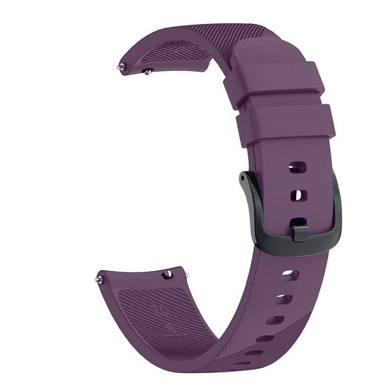 Ремешок для часов Silicone bracelet Universal, 20 мм. Type B Violet