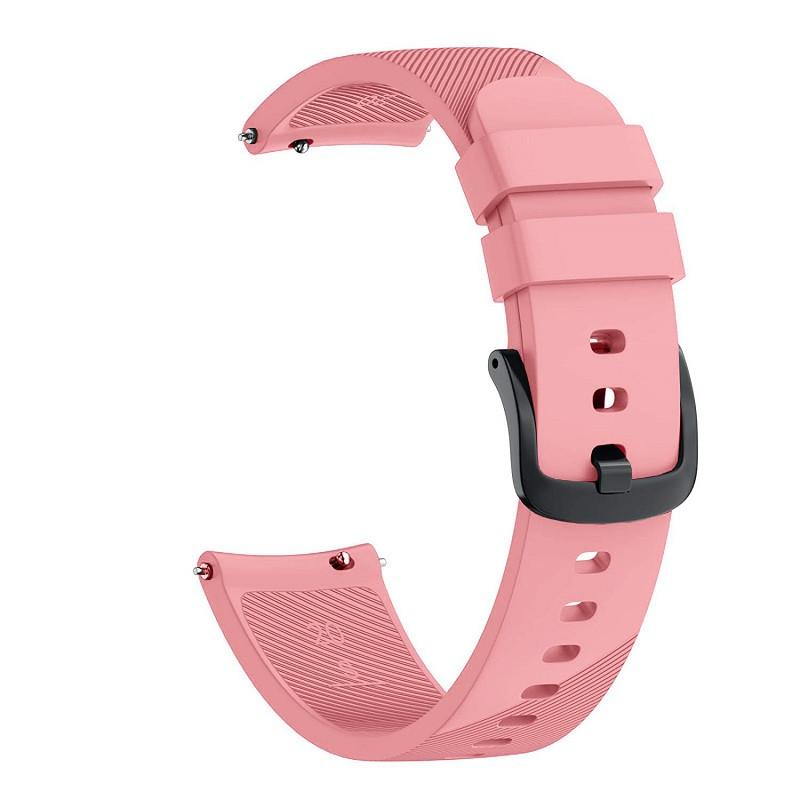 Ремешок для часов Silicone bracelet Universal, 20 мм. Type B Pink