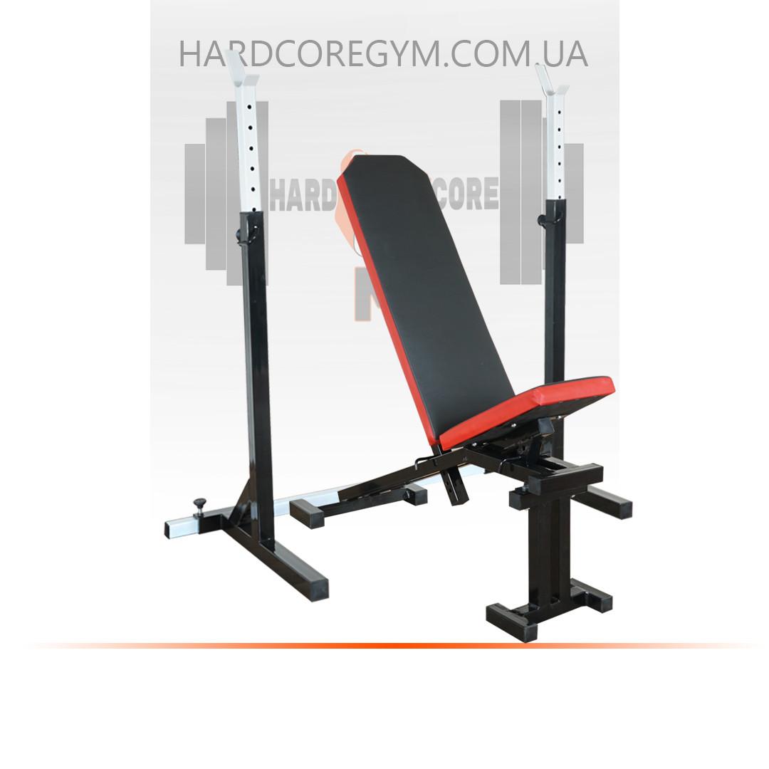 Скамья с отрицательным углом (до 300 кг) + Стойки (до 250 кг)