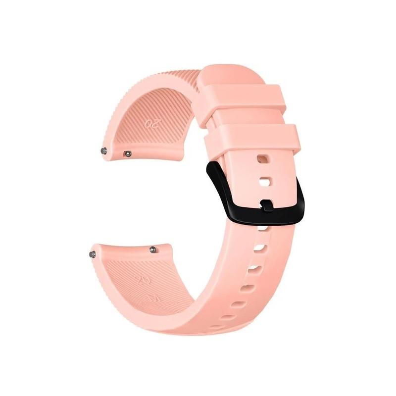 Ремінець для годинника Silicone bracelet Універсальний, 20 мм. Type B Pale pink