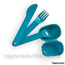 Набор столовых приборов (ложка, вилка, нож) Tupperware (США) в футляре Tupperware