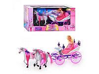 Карета с лошадками и куклой 39786