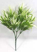 """Кущ з білими листочками 33см""""драцена"""",штучна зелень., фото 1"""