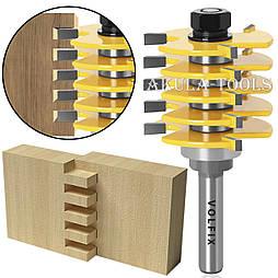 Складальна фреза для зрощування деревини (мікрошип) (марошип) по довжині і ширині по дереву VOLFIX FZ-120-520 d8