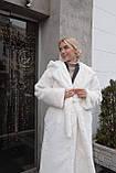 Женская шуба из  экo-меха с капюшоном, фото 2