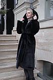 Женская шуба из  экo-меха с капюшоном, фото 4
