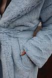 Женская шуба из  экo-меха с капюшоном, фото 3