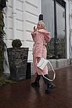 Женская шуба из  экo-меха с капюшоном, фото 9