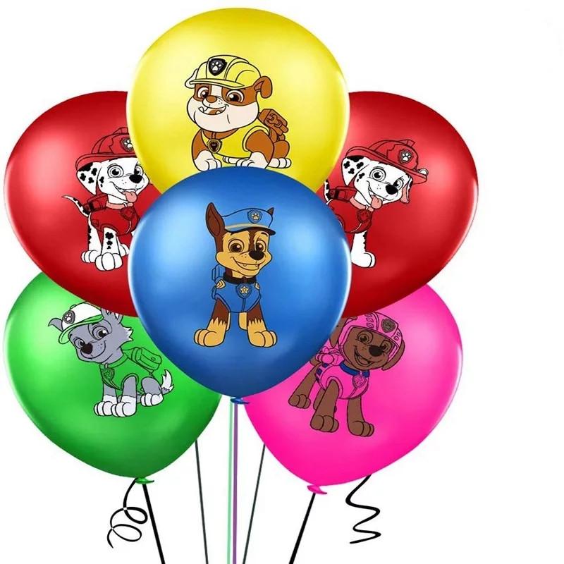 Яркие воздушные шары щенячий патруль ассорти 30 см 8 шт