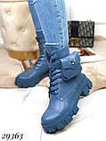 Ботинки женские синие Деми 29363, фото 2