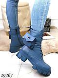 Ботинки женские синие Деми 29363, фото 3