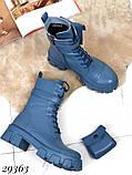 Ботинки женские синие Деми 29363, фото 4