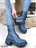 Ботинки женские синие Деми 29363, фото 5