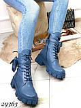 Ботинки женские синие Деми 29363, фото 7
