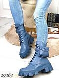 Ботинки женские синие Деми 29363, фото 8