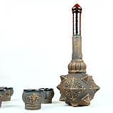 Булава с рюмками - набор для коньяка, декор «бронза», булава на свадьбу, фото 6