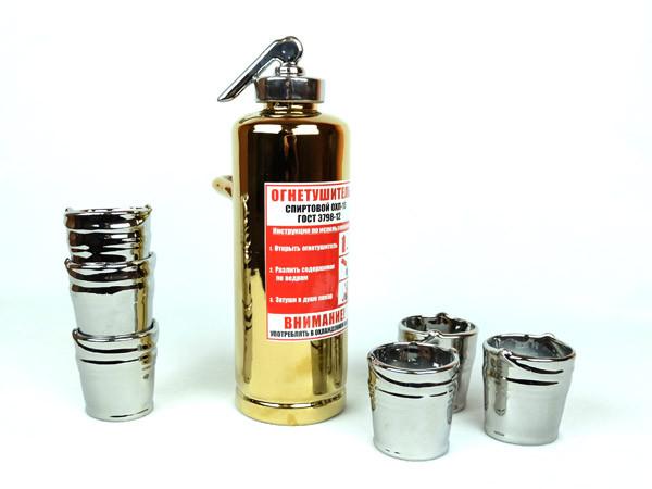 Огнетушитель золотой - подарочный набор для спиртного