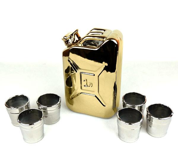 Золотая канистра - подарочный набор для спиртного