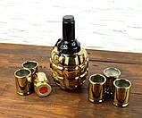 Граната Ф1 золотая - подарочный набор для спиртного, фото 2