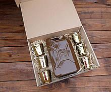 Подарочный набор Дозаправка №3 - коричневая канистра и 6 рюмок