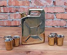 Золотая канистра №2 - сувенирный набор для спиртного