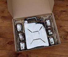 Подарочный набор Дозаправка №2 - серебряная канистра и 6 рюмок