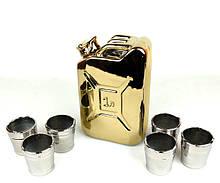 Подарочный набор для спиртного «Золотая канистра» (бутылка-канистра и 6 рюмок)