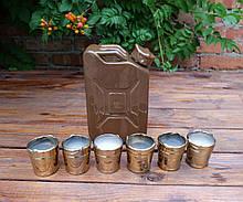Канистра коричневая - подарочный набор для спиртного