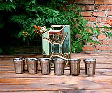 Золотая канистра №1 - подарочный набор для спиртного