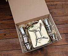 Подарочный набор Дозаправка №1 - золотая канистра и 6 рюмок