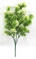 """Куст с пучками белых ягод 33см""""дейция"""",искусственная зелень., фото 1"""