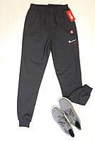 Спортивные штаны мужские с манжетами, трикотаж, темно-серые