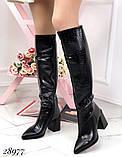 Сапоги женские высокие Деми 28977, фото 5