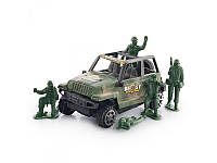 Детская инерционная машинка Джип с солдатиками 4280