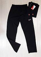 Спортивные штаны мужские прямые, трикотаж, черный