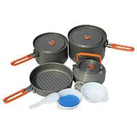 Набір посуду для 4-5 персон Fire-Maple Feast 4 померанчовi  ручки, фото 1