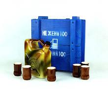"""Не жени 100 а налий 100 - бутылка-канистра """"Топливо внутреннего сгорания"""" в деревянном ящике Дозаправка"""