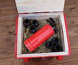 При пожежі налити по 100 - красный огнетушитель-бутылка в деревянном ящике, фото 4
